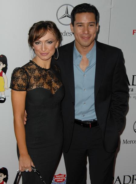 Mario Lopez and Karina