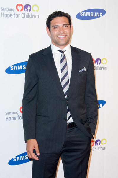 Mark Sanchez poses at the Samsung Hope For Children Gala
