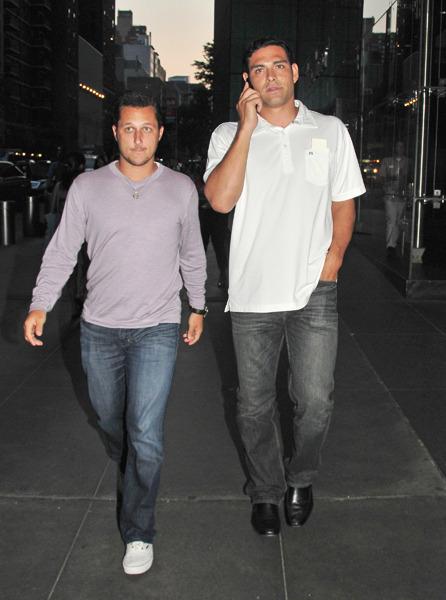 Mark Sanchez walking in NYC
