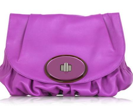Marni Leather Foldover Clutch