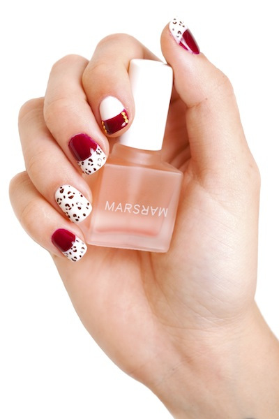 MARS leopard nail art