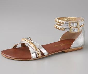Matt Bernson Metallic Studded Sandals