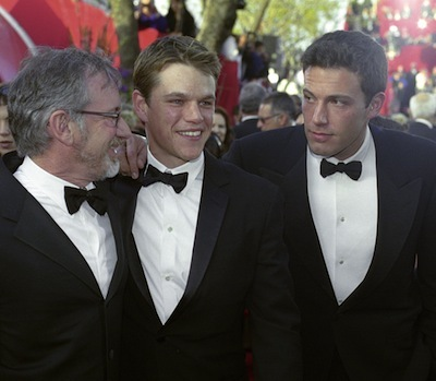 Steven Spielberg, Matt Damon and Ben Affleck
