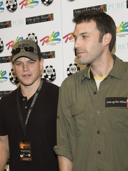 Matt Damon and Ben Affleck at Ante Up for Africa