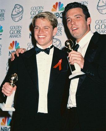Matt Damon and Ben Affleck win Golden Globes for Good Will Hunting