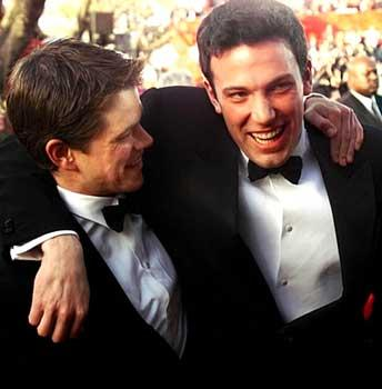 Matt Damon and Ben Affleck dressed up