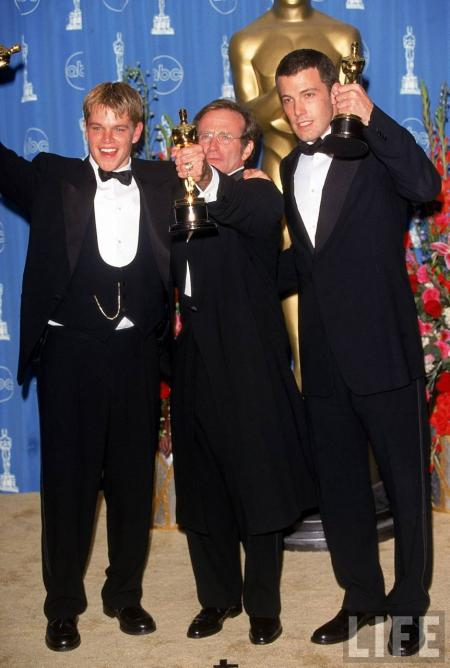 Matt Damon, Robin Williams and Ben Affleck