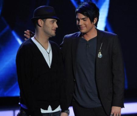 Matt Giraud and Adam Lambert on American Idol