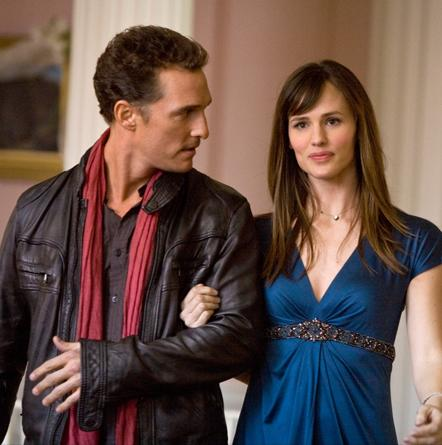 Matthew McConaughey and Jennifer Garner in Ghosts of a Girlfriends Past.
