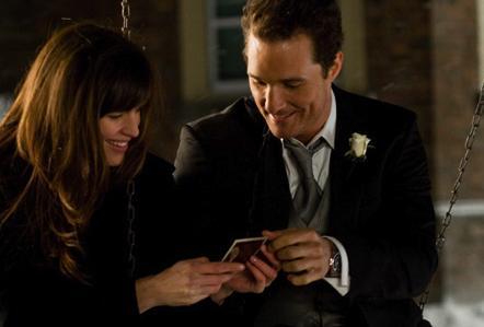 Matthew McConaughey and Jennifer Garner smile over past memories.