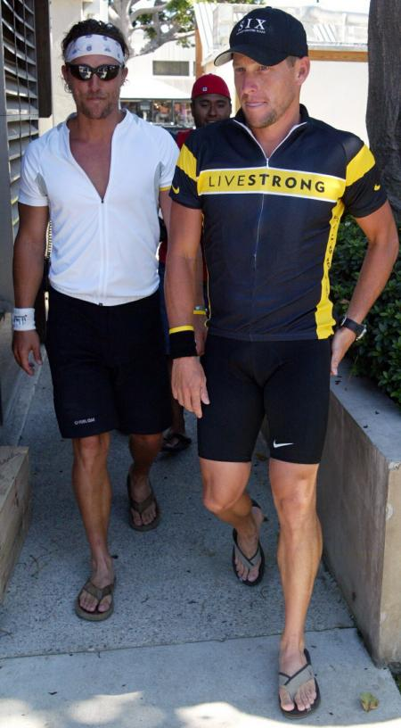 Matthew McConaughey and Lance Armstrong in Malibu