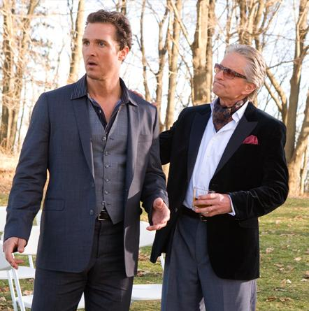 Matthew McConaughey and Michael Douglas in Ghosts of Girlfriends Past.