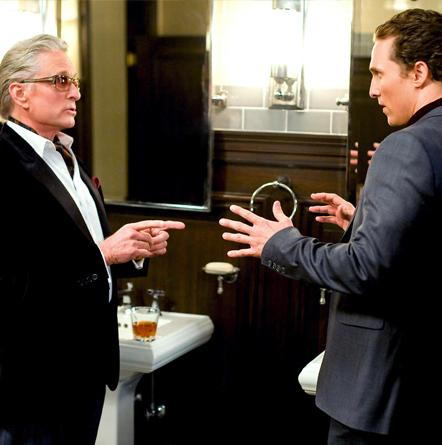 Matthew McConaughey and Michael Douglas on the scene from Ghosts of Girlfriends Past.