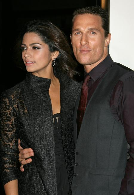 Matthew McConaughey and Camila Alves at the premiere of Fools Gold