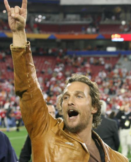 Matthew McConaughey at the Fiesta Bowl