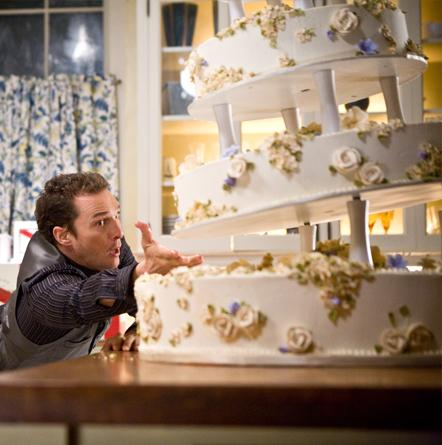Matthew McConaughey trying to save the wedding cake.