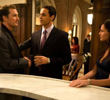 Connor, Jenny, and Brad in Ghosts of Girlfriends Past.