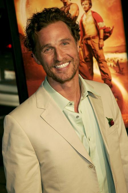 Matthew McConaughey at the premiere of Sahara
