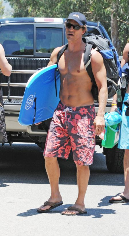 Matthew McConaughey goes topless in LA