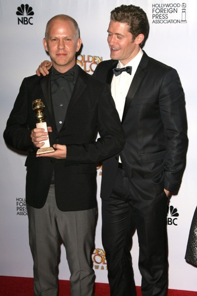 Matthew Morrison and Ryan Murphy at the Golden Globes