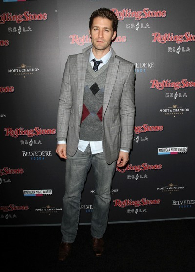 Matthew Morrison rocks jeans and a blazer at the 2010 AMAs Afterparty