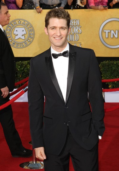 Matthew Morrison on the red carpet at the 18th Annual SAG Awards