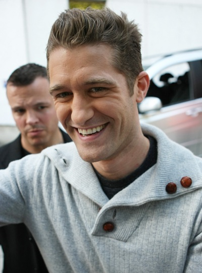 Matthew Morrison outside the ITV studios in London