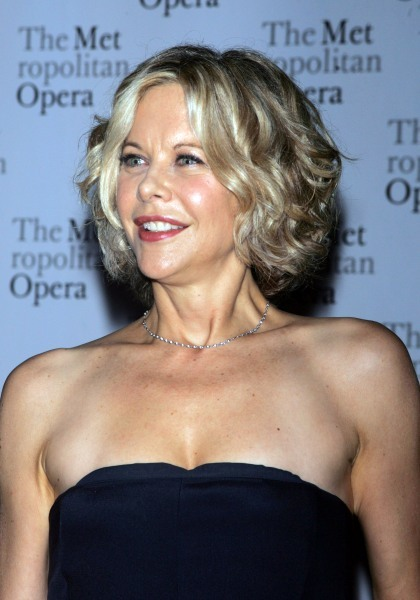 Meg Ryan's blonde, curly hairstyle