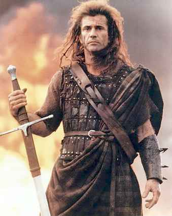Mel Gibson in Braveheart