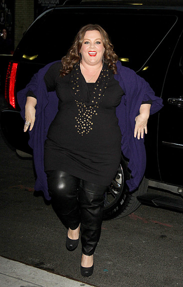Melissa McCarthy outside Letterman
