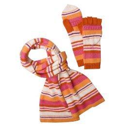 Merona muffler and glove set in pink