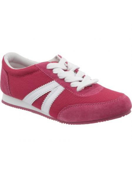 Mesh Suede-Trim Sneakers