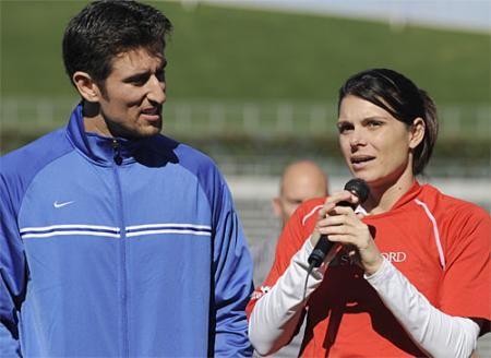 Mia Hamm Addresses the Crowd