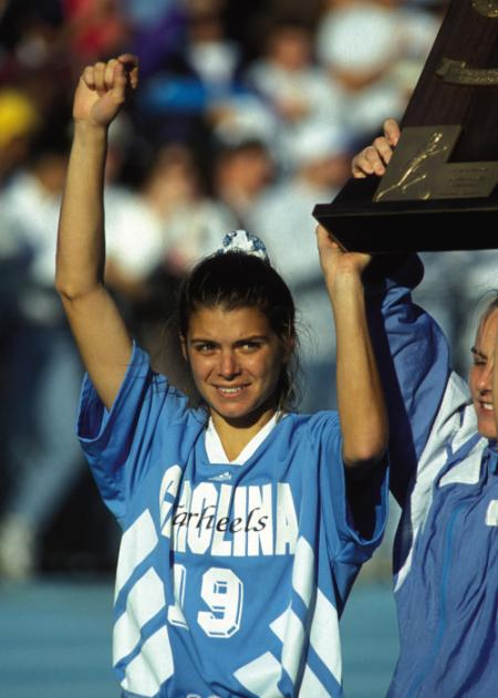 Mia Hamm at UNC