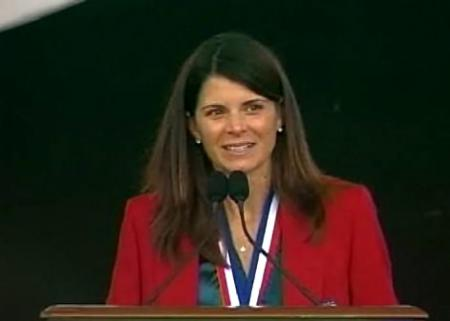 Mia Hamm at the Hall of Fame Induction