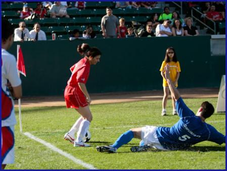Mia Hamm and Nomar Garciaparra Charity Soccer Game