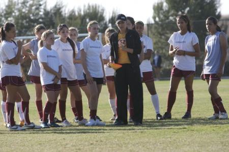 Mia Hamm with Youth Soccer