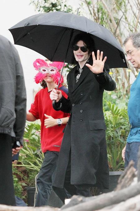 Michael Jackson and son Prince