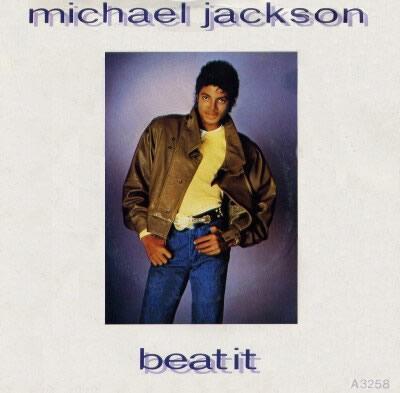Michael Jackson's Beat It UK single