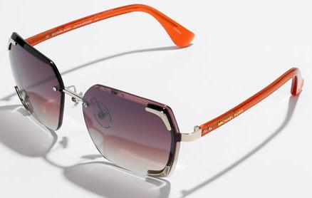 Michael Kors Orange Rimless Sunglasses