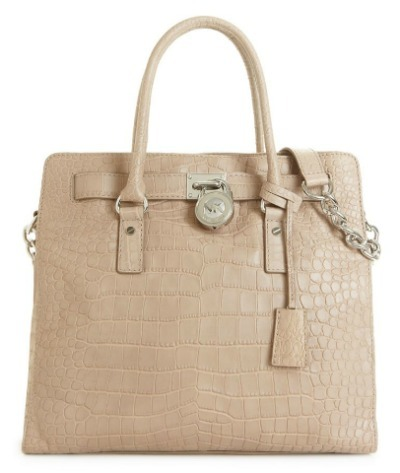 Croco leather tote
