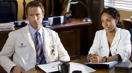 Michael Vartan and Jada Pinkett-Smith on Hawthorne