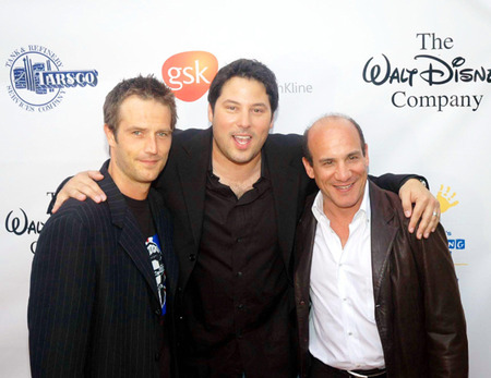 Michael Vartan poses with buddies