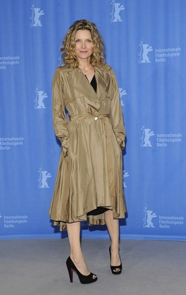 Michelle Pfeiffer in trench