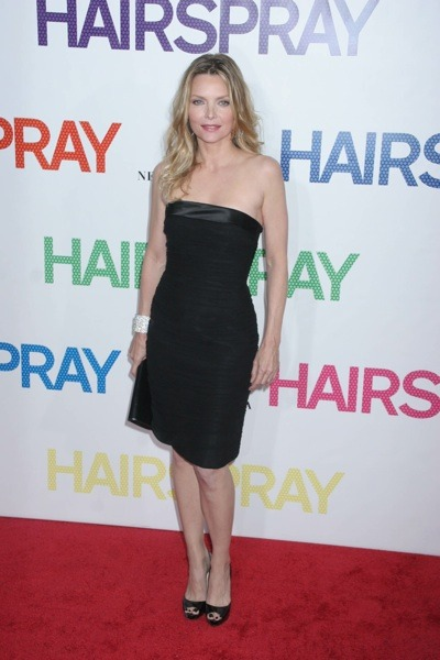Michelle Pfeiffer in strapless dress