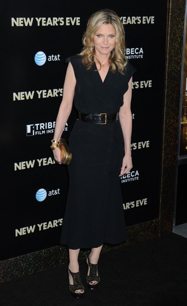 Michelle Pfeiffer with leather belt
