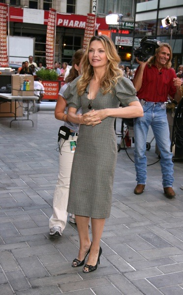 Michelle Pfeiffer in grey dress