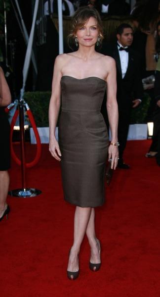 Michelle Pfeiffer in chocolate dress
