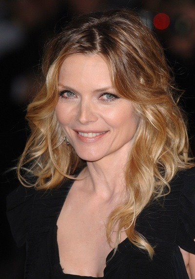 Michelle Pfeiffer with beach waves