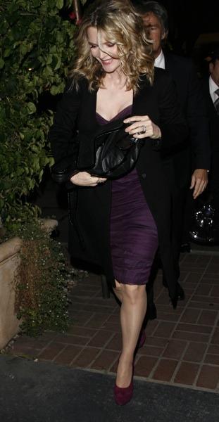 Michelle Pfeiffer in swing coat